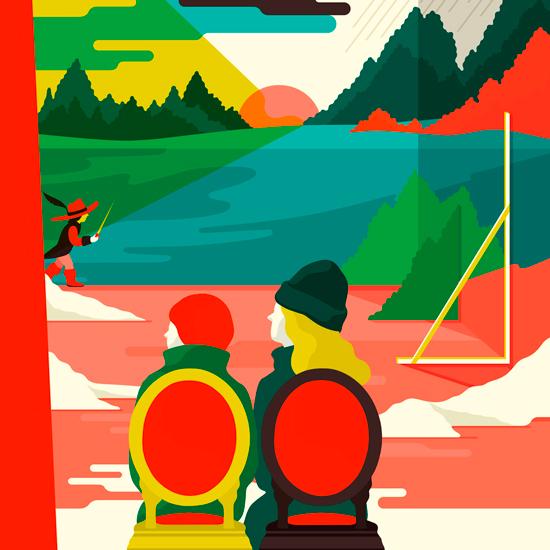 Couverture du magazine Tranzistor 64, par Anne-Lise Boutin